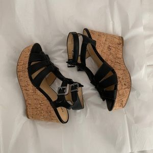 NEW Express Strappy Wedges